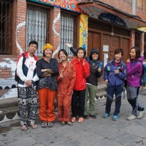 台湾から来た子たち、壁画を通して仲良くなった!