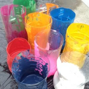 7つの基本色ペンキから、イメージの色を作ります